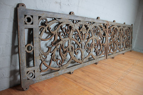 Victorian Cast Iron Balcony Panels By
