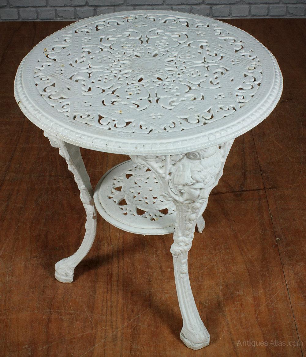 Outdoor Victorian Table: Victorian Cast Iron Garden Table C.1890