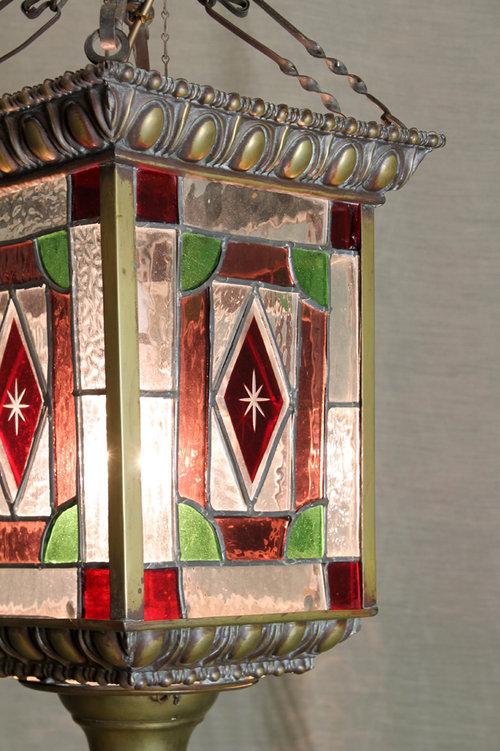 Victorian Colourd Gl Porch Light