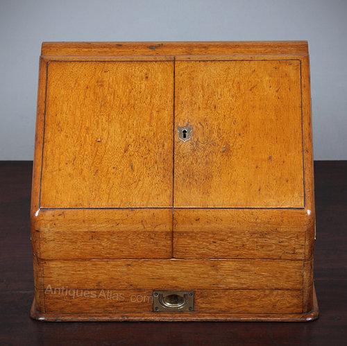 Antique Desk Tidy ... - Antiques Atlas - Victorian Desk Top Stationery  Cabinet. - Antique Desk Tidy Antique Furniture