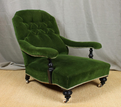 Victorian Howard & Son Style Easy Chair. Antique ... - Victorian Howard & Son Style Easy Chair. - Antiques Atlas