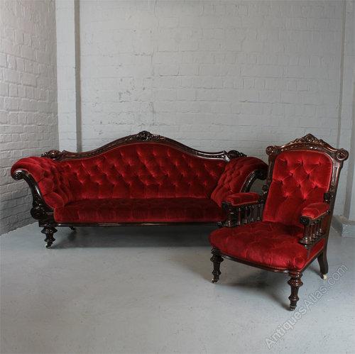 Victorian Sofa Armchair Antiques Atlas