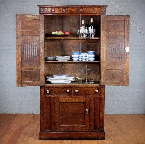 Antique Food Cupboards ... - Welsh Oak Bread & Cheese Cupboard. - Antiques Atlas