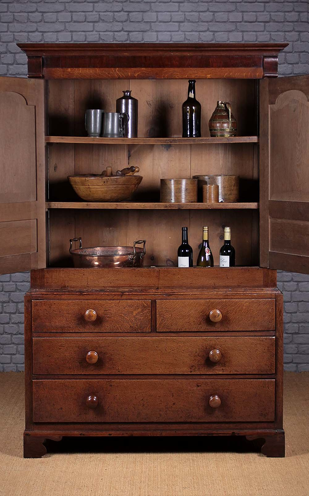 Welsh Oak Kitchen Cupboard C 1820 Antiques Atlas