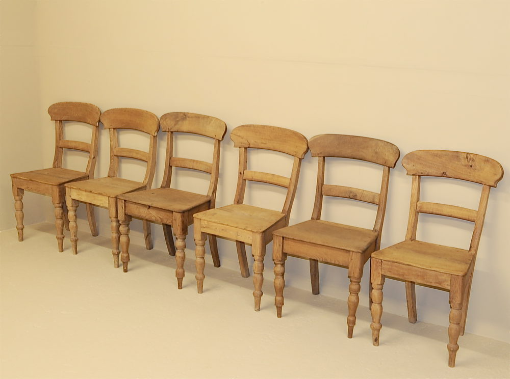 6 Country Dining Chairs - R3534 Antique Farmhouse Chairs - 6 Country Dining Chairs - R3534 - Antiques Atlas
