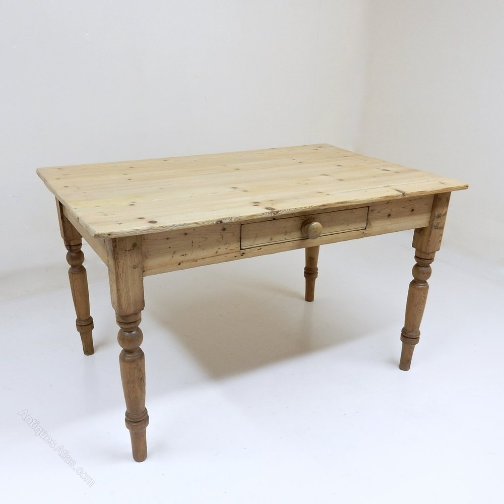 Antique Kitchen Tables: Antique Pine Kitchen Table (Project)