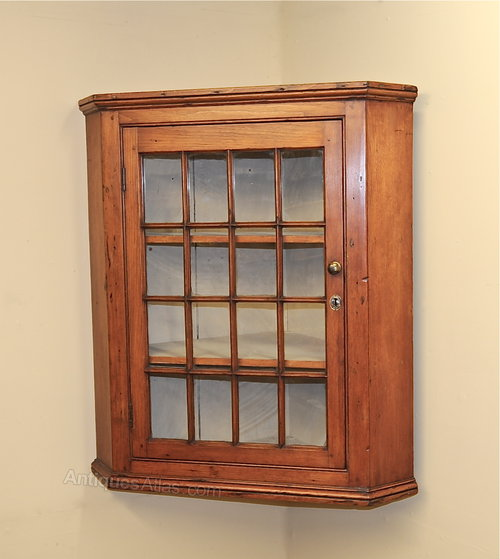 Glazed Pine Corner Cupboard Antique ... - Glazed Pine Corner Cupboard - Antiques Atlas