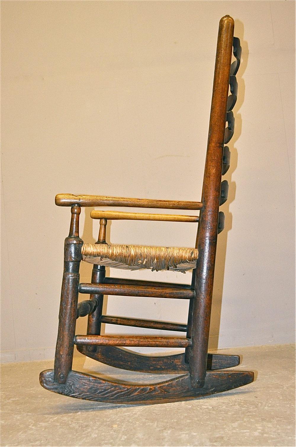 Ladderback Rocking Chair Q3316 Antiques Atlas