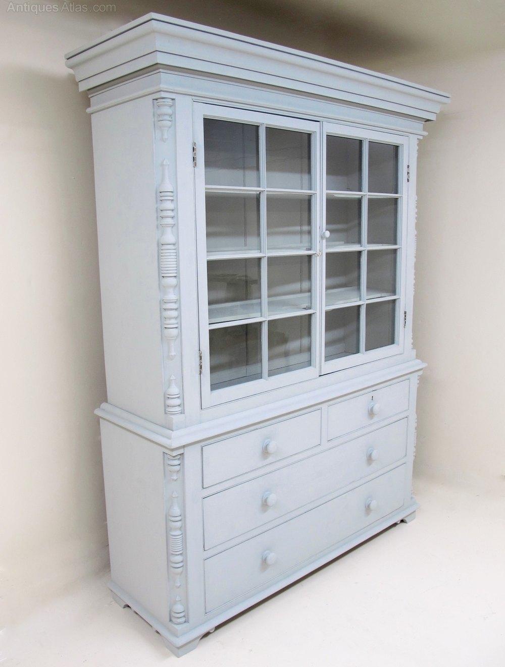 Large Glazed Kitchen Dresser - Antiques Atlas