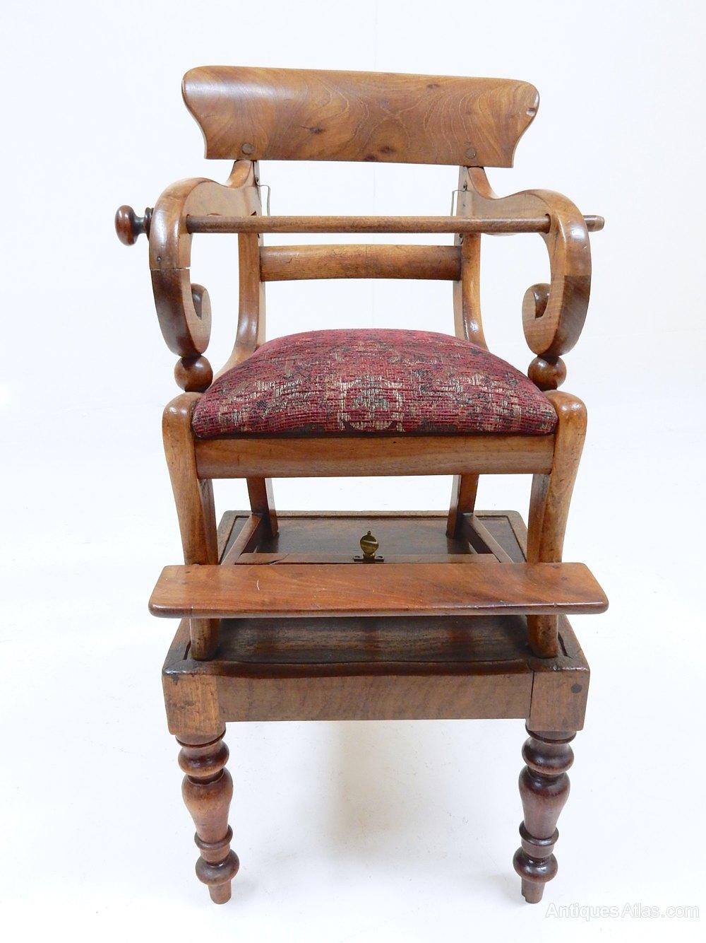 Mahogany Childu0027s High Chair