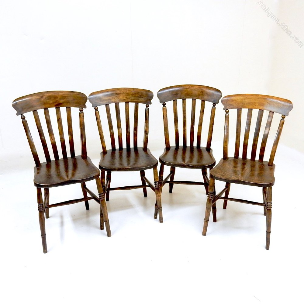 Matched Set Of 4 Windsor Lathback Kitchen Chairs Antiques Atlas