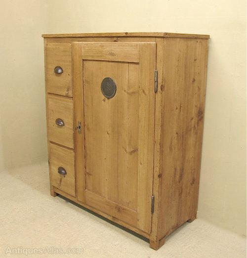 - Pine Larder Cupboard - Antiques Atlas