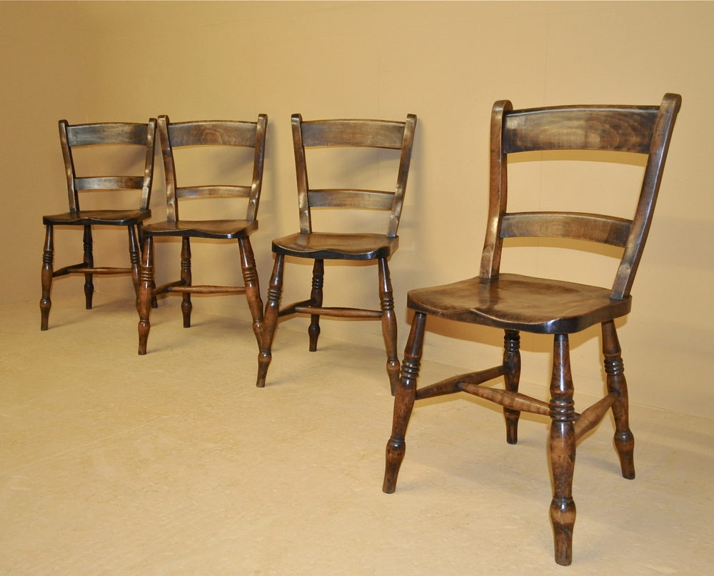 Set of 4 Barback Kitchen Chairs - R3470 ... & Set Of 4 Barback Kitchen Chairs - R3470 - Antiques Atlas