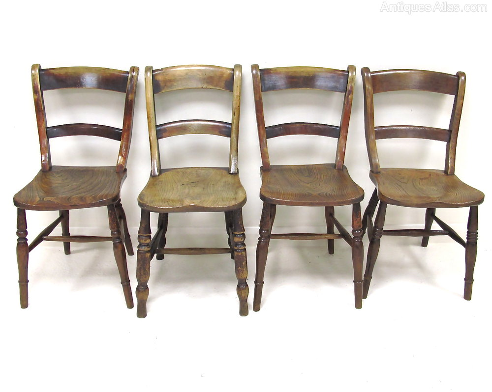 Set of 4 Barback Kitchen Chairs Antique Kitchen Chairs ... - Set Of 4 Barback Kitchen Chairs - Antiques Atlas