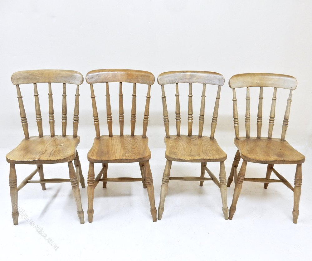 Antique Spindle Back Kitchen Chairs
