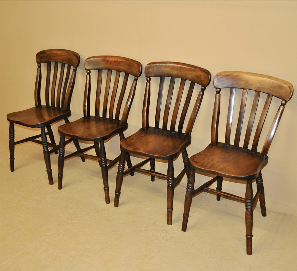 Windsor Kitchen Chairs: Set Of 4 Windsor Kitchen Chairs