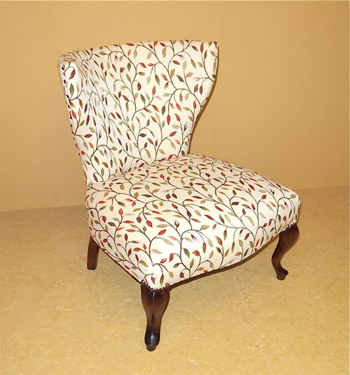 Small Upholstered Chair - R3505 Antique Nursing Chairs - Small Upholstered Chair - R3505 - Antiques Atlas