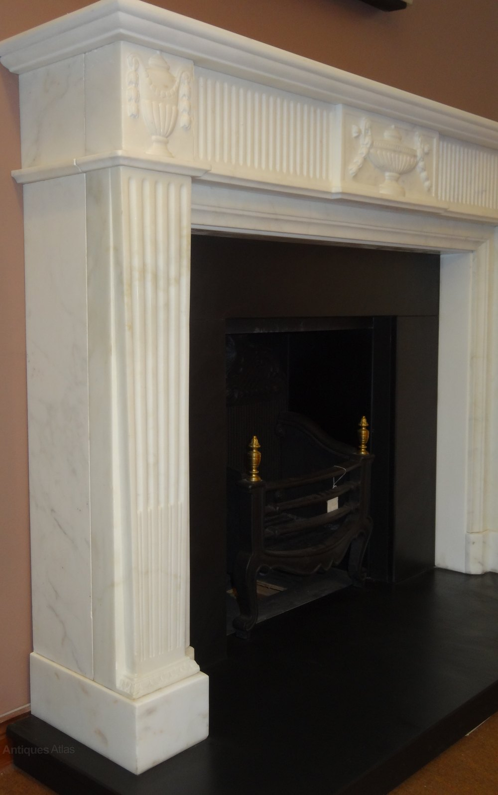 Antiques Atlas 1930 S White Marble Fireplace Surround