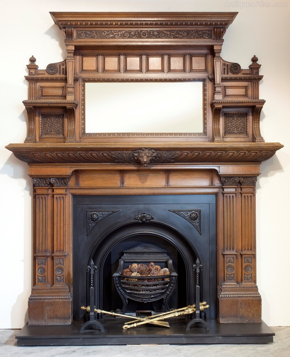 Antiques Atlas Victorian Carved Oak Fireplace Surround
