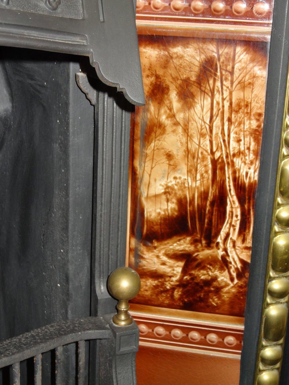 antiques atlas victorian cast iron brass fireplace insert grate