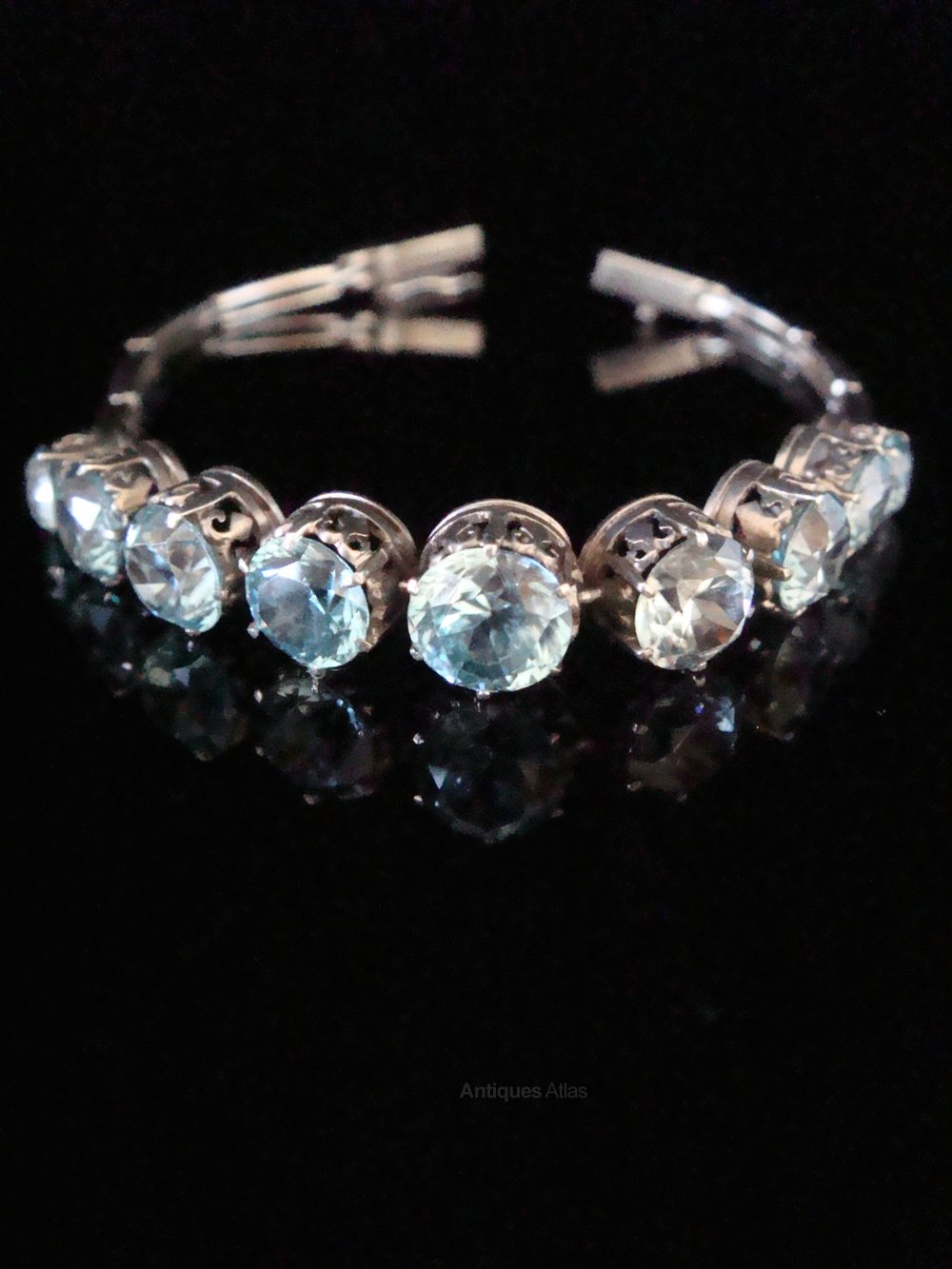 bracelet blue in symmetallic zircon fashion sterling fun pin