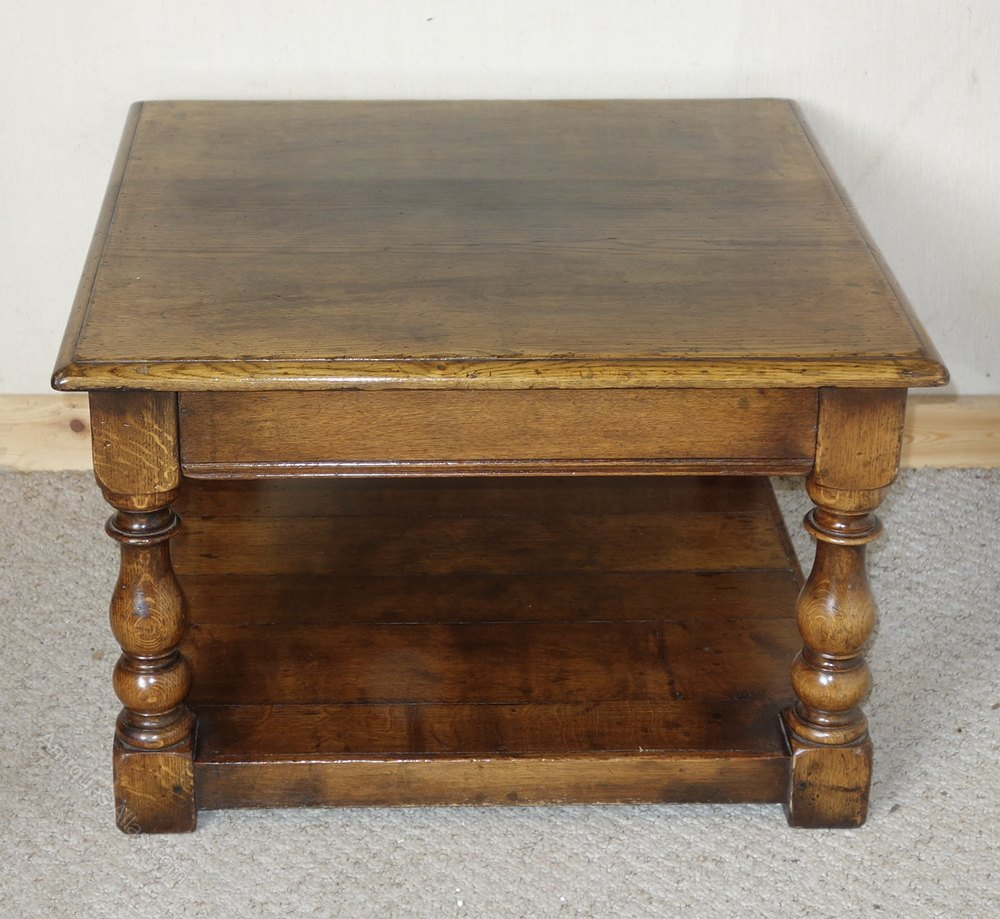 Antiques Atlas Distressed Solid Oak Coffee Table With Drawer