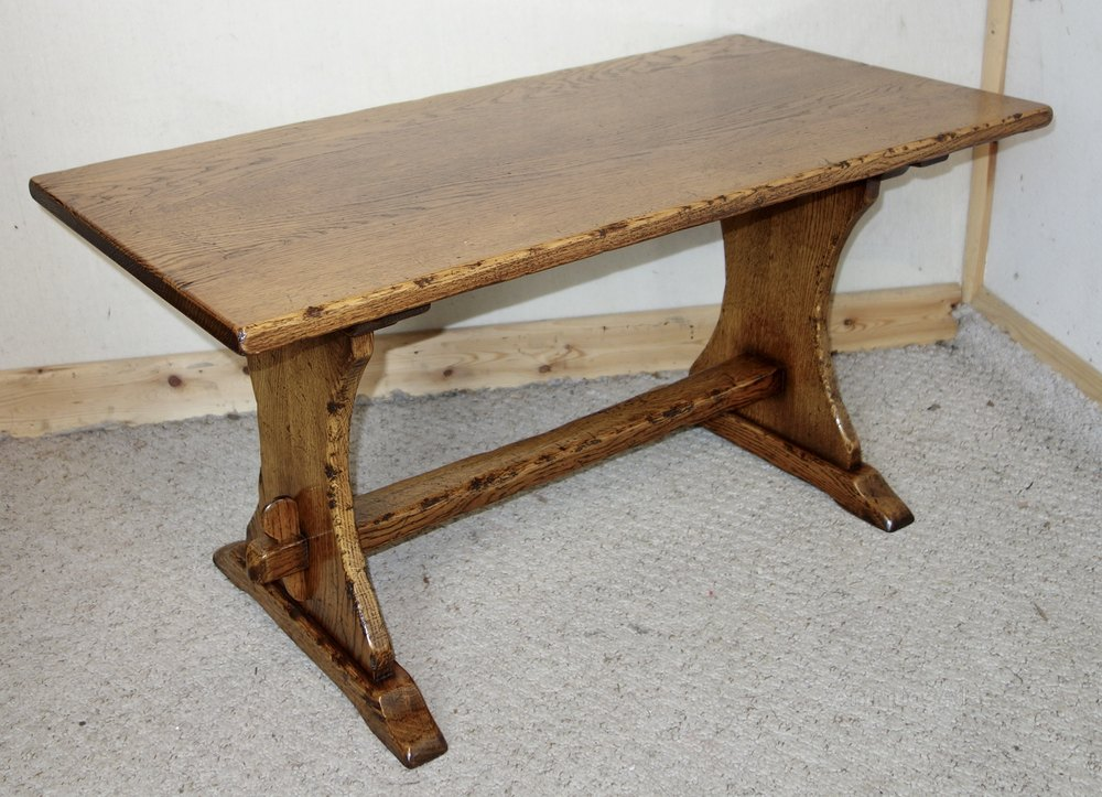 Distressed Solid Oak Coffee Table