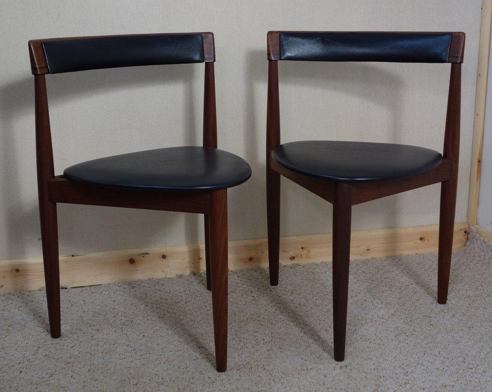 Hans Olsen Frem Rojle  Pair Of Teak Dining Chairs ...