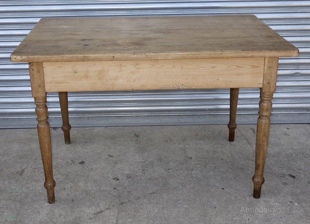 Small Pine Kitchen Table One Drawer Antique Kitchen Tables ...