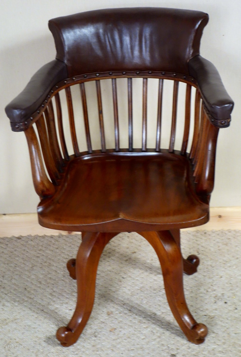 vintage swivel chairs mahogany swivel desk chair antiques atlas 3259