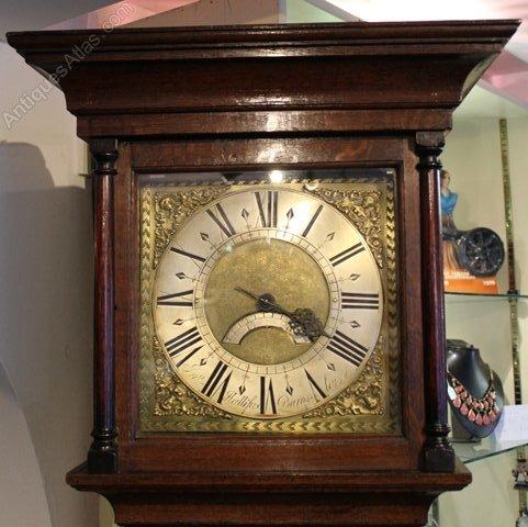 Antiques Atlas - Superb Oak Longcase Clock Halifax Of Barnsley