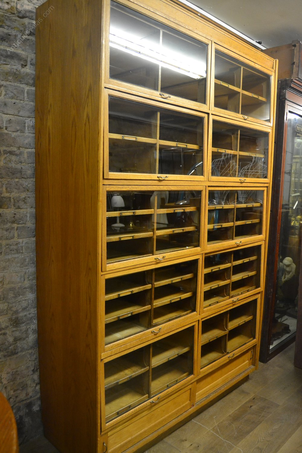 Antique Oak Haberdashery Shop Display Cabinet Antiques Atlas