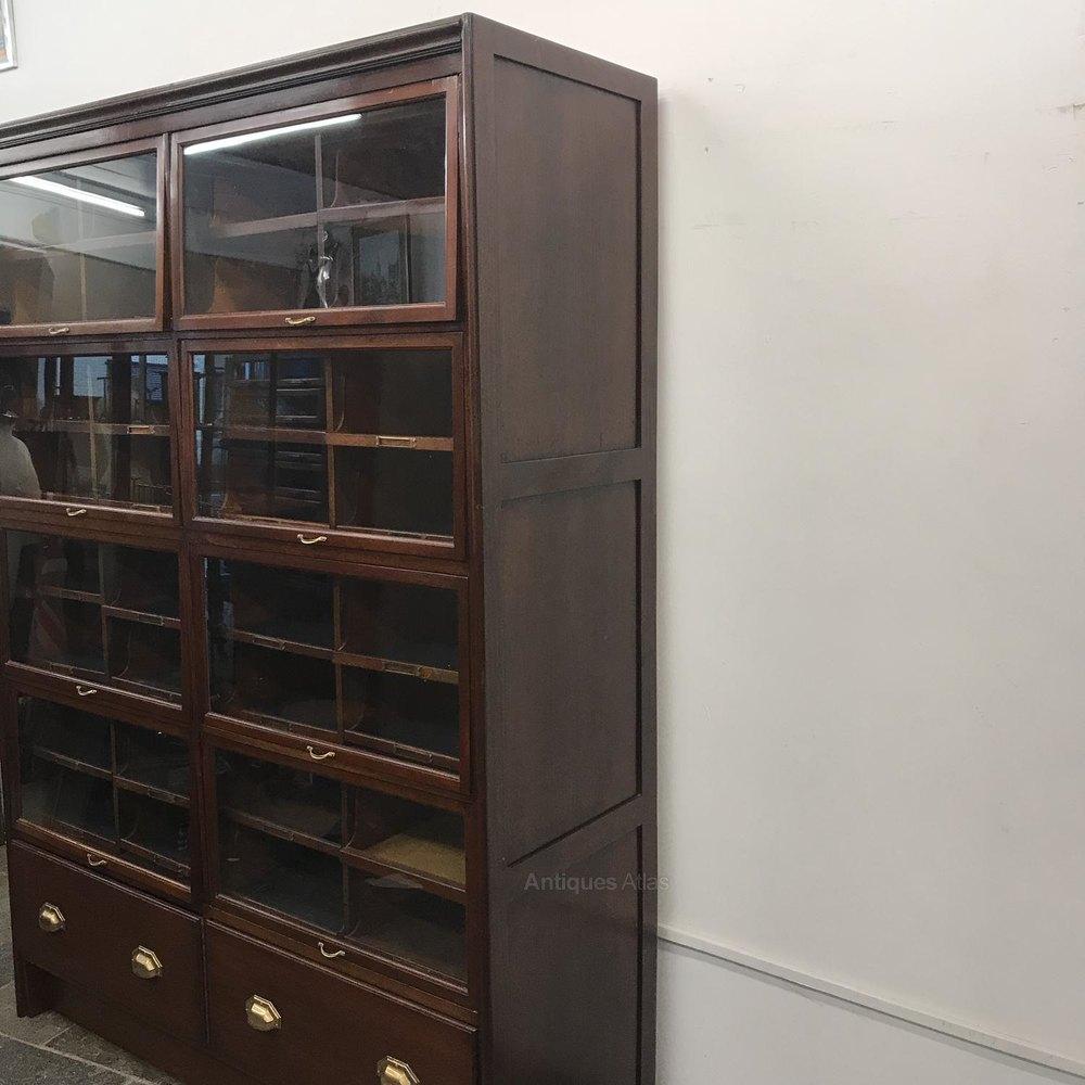 Antique Mahogany Flip Up Haberdashery Cabinet - Antiques Atlas
