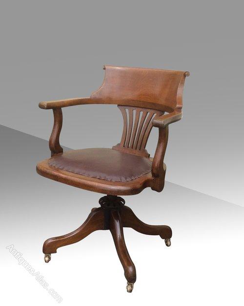 - Antique Swivel Captains Desk Chair - Antiques Atlas