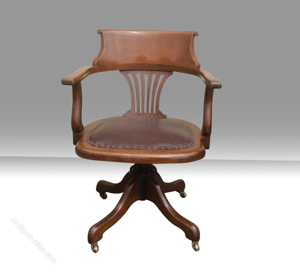 Antique Swivel Captains Desk Chair Antiques Atlas
