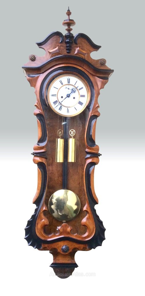 Antiques Atlas Antique Double Weighted Vienna Wall Clock