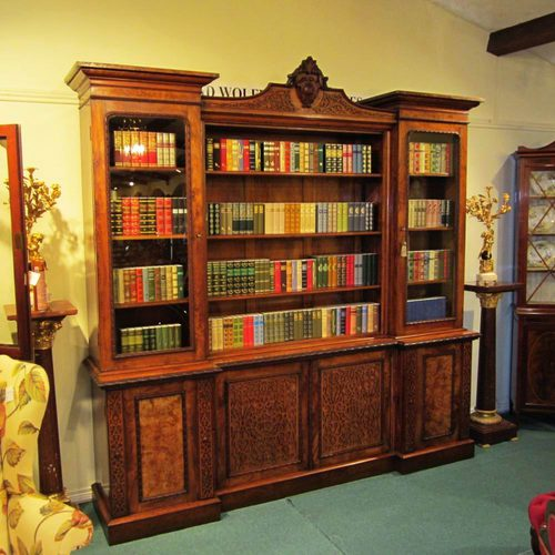 Large Walnut Antique Bookcase Antiques Atlas