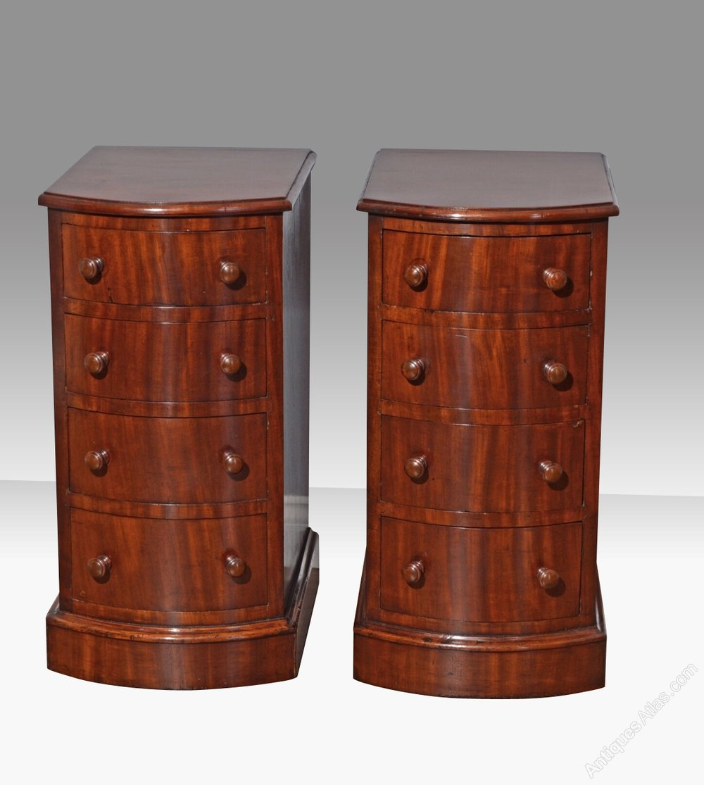 Pair Of Antique Victorian Bedside Chests Cabinets