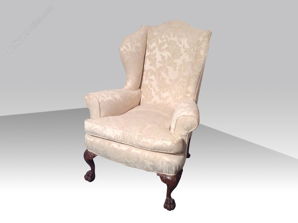 Quality Antique Upholstered Wing Back Chair Antiques Atlas