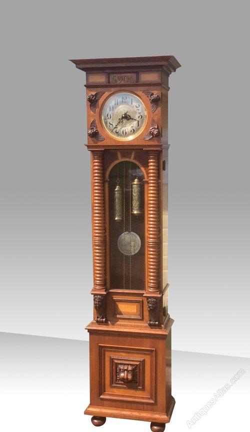 Antiques Atlas Walnut Inlaid Art Nouveau Antique Longcase Clock