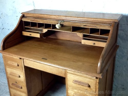 Victorian Oak Roll Top Desk By Angus Of London Antiques