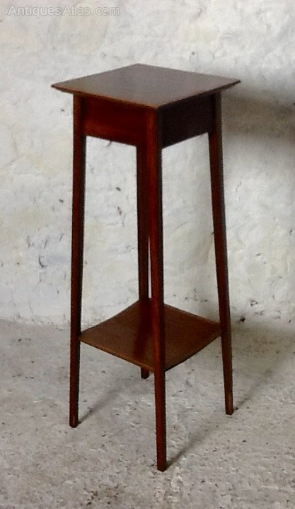 Antiques Antique Edwardian Mahogany Plant Stand