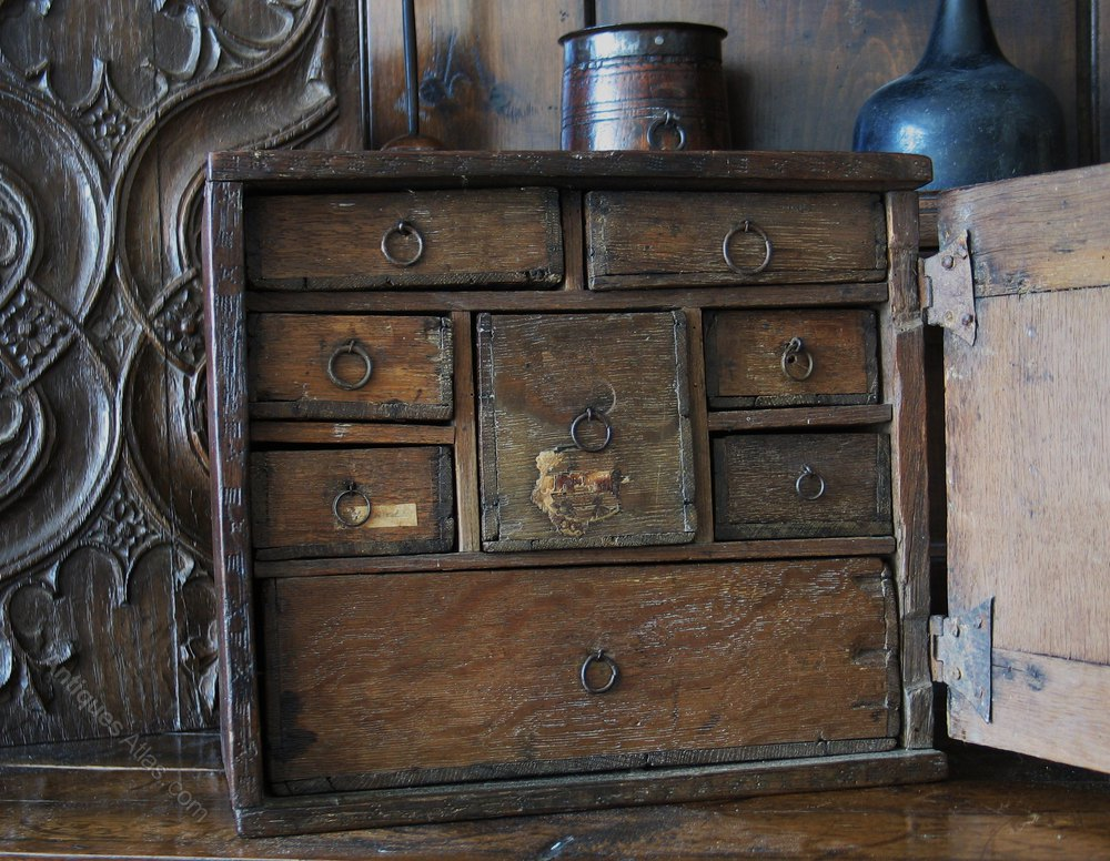 17th Century Oak Spice Cupboard Antique Spice Cupboards ... & 17th Century Oak Spice Cupboard - Antiques Atlas