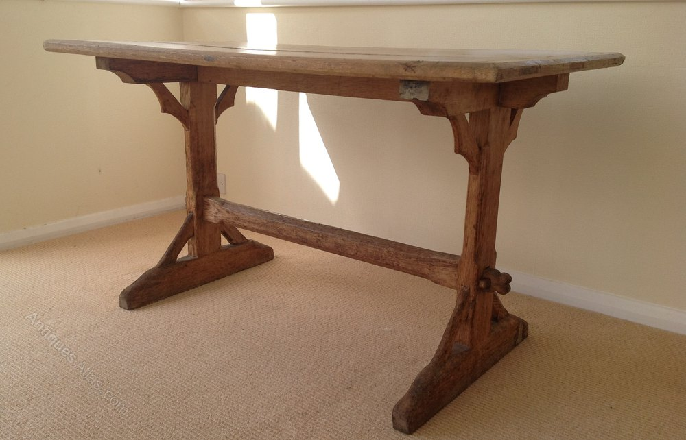 Fine Gothic Style Trestle Table 19Th C Download Free Architecture Designs Xerocsunscenecom