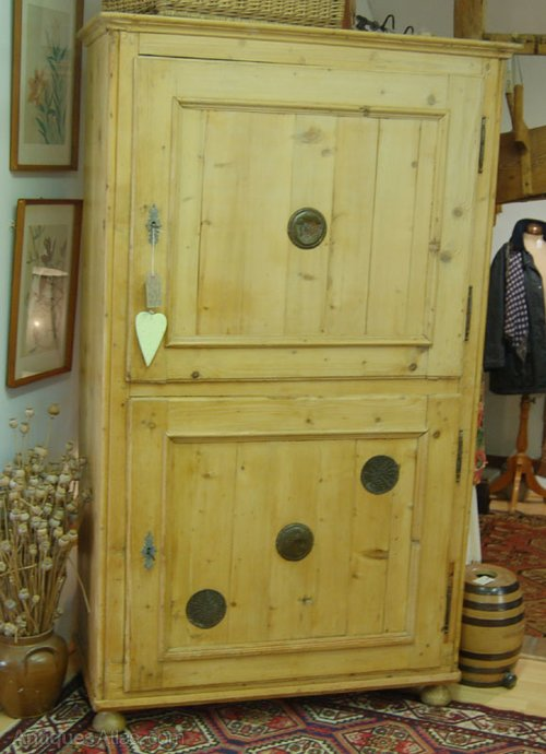 19th C Pine Larder Cupboard Antique ... - 19th C Pine Larder Cupboard - Antiques Atlas