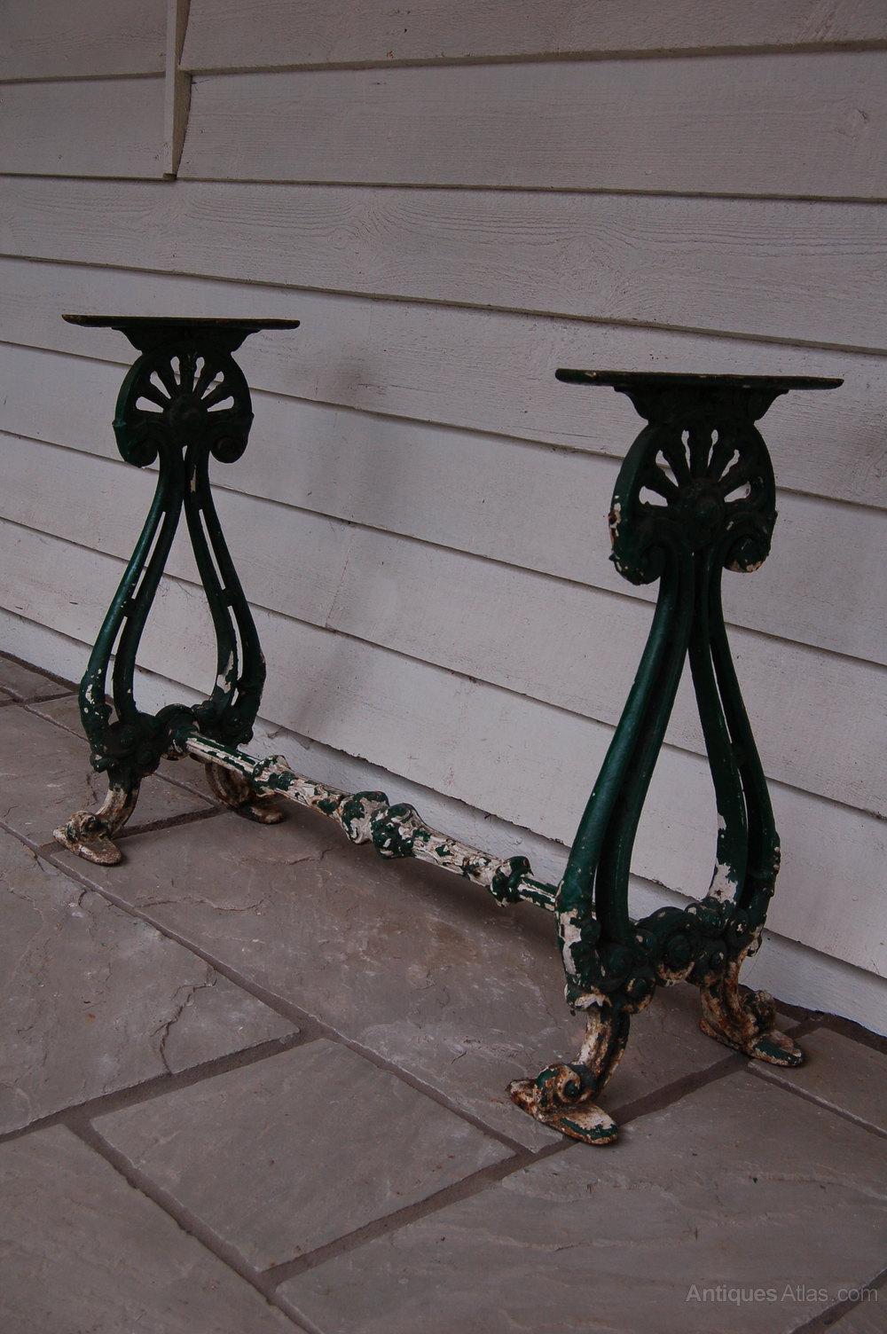 A Victorian Cast Iron Table Base Antique