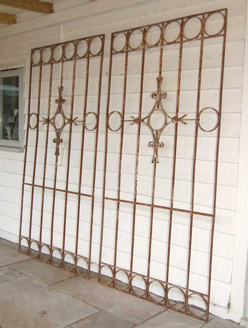 Antiques Atlas - Large French 19thC Wrought Iron Window Grill