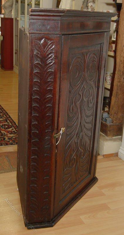 Victorian Carved Oak Corner Cupboard Antique Corner Cupboards ... - Victorian Carved Oak Corner Cupboard - Antiques Atlas