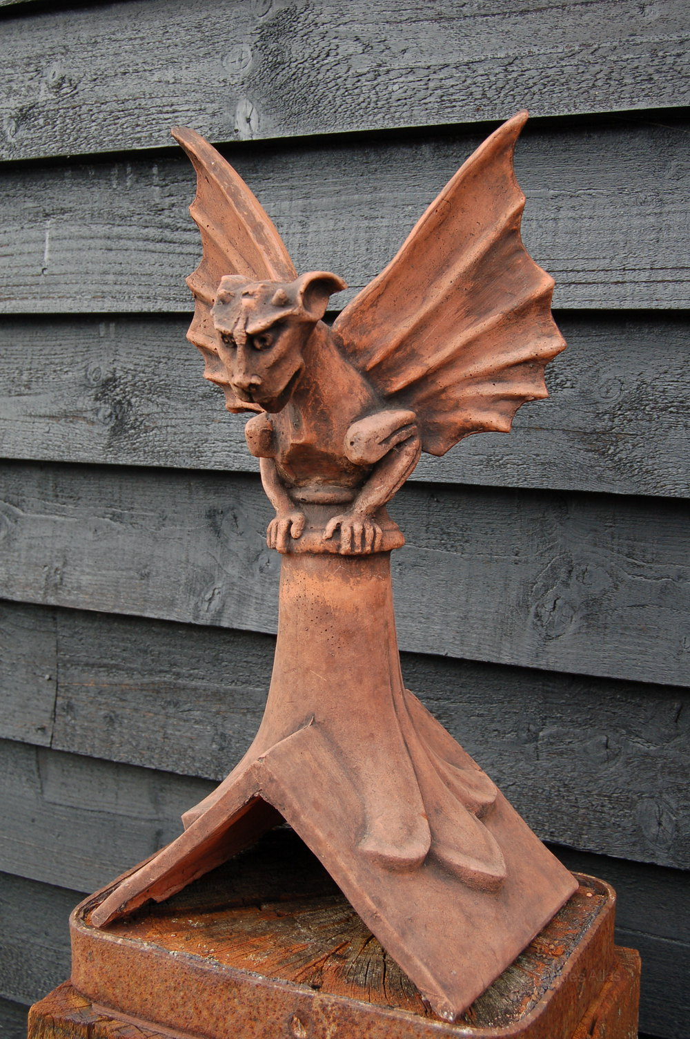 Antiques Atlas Winged Gargoyle Roof Ridge Tile