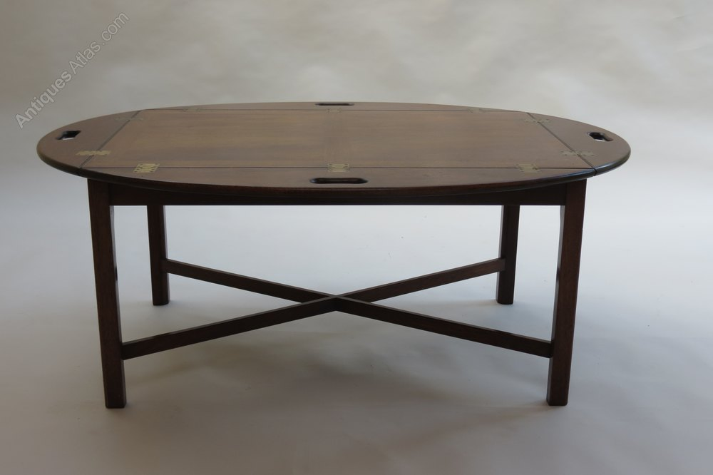 Antiques atlas 1960s mahogany butlers tray coffee table Butler coffee tables